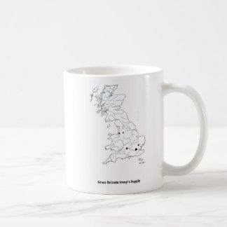 Großbritanniens Ironie-Versorgung Kaffeetasse