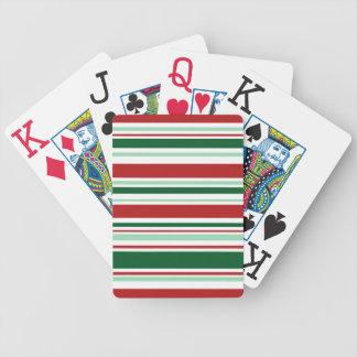 Großdruck-gemischte rote, grüne, weiße Streifen Bicycle Spielkarten