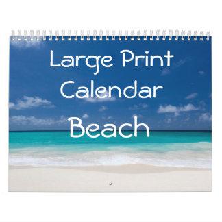 Großdruck-Kalender - Strand Wandkalender