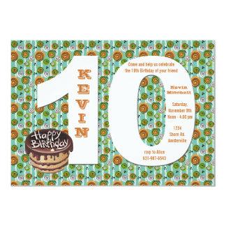 Große 10 Geburtstags-Party Einladung