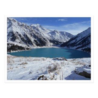 Große Almaty See-Postkarte Postkarte