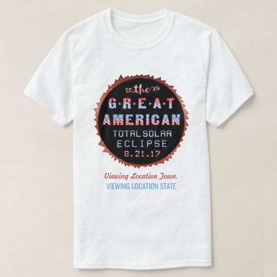 Große amerikanische GesamtSonnenfinsternis am 21. T-Shirt