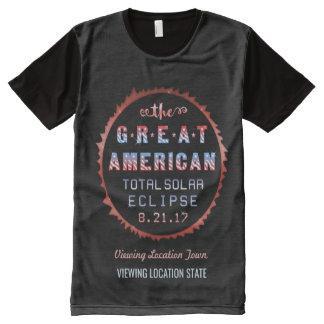 Große amerikanische GesamtSonnenfinsternis am 21. T-Shirt Mit Komplett Bedruckbarer Vorderseite