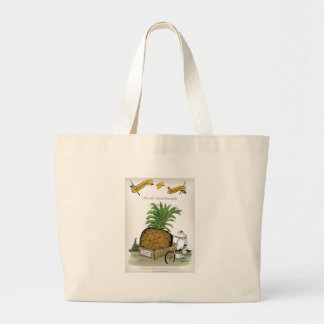Große Ananas Liebe-Yorkshires Jumbo Stoffbeutel