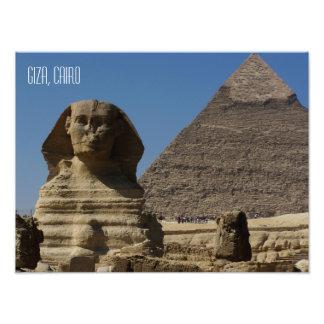 Große Andenken Sphinx-Statue-Gisehs Kairo Ägypten Fotodruck