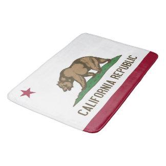 Große Badmatte mit Flagge von Kalifornien, USA Badematte