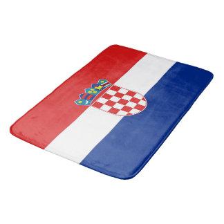 Große Badmatte mit Flagge von Kroatien Badematte