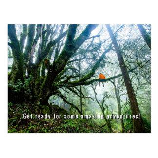 Große Baum-fantastische Postkarte
