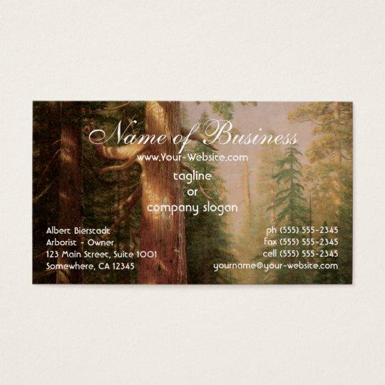 Große Bäume, Mariposa Waldung, Kalifornien, Visitenkarten