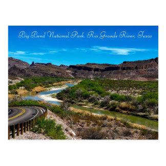 Große Biegungs-Nationalpark der Rio Grande Texas Postkarte