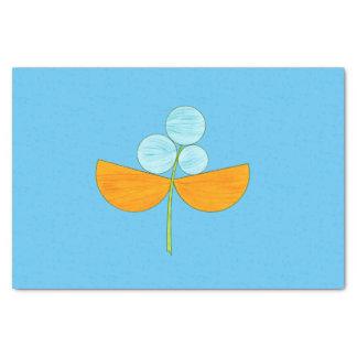 Große blaue und orange Watercolor-Blume Seidenpapier