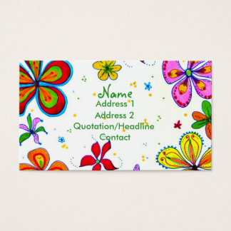 Große Blumen-Kunst-kundenspezifische Visitenkarte
