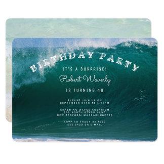 Große Brandungs-Überraschungs-Geburtstags-Party 12,7 X 17,8 Cm Einladungskarte