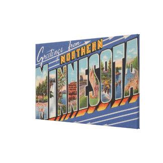 Große Buchstabe-Szenen Minnesotas (Nord) - Leinwanddruck