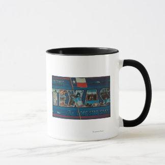 Große Buchstabe-Szenen Texas (Einzig-Stern Flagge) Tasse