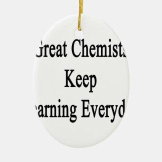 Große Chemiker behalten das Lernen täglich Ovales Keramik Ornament