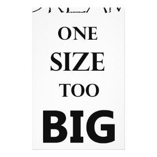 Größe des Traums einer Briefpapier