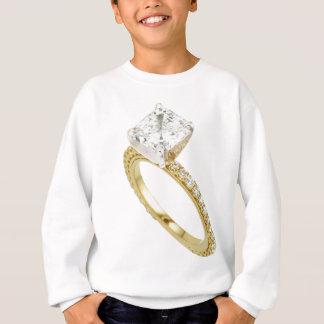 Große Diamant-Verlobungs-Ring-Andeutungs-Andeutung Sweatshirt