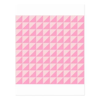 Große Dreiecke - erblassen Sie - Rosa und Postkarte