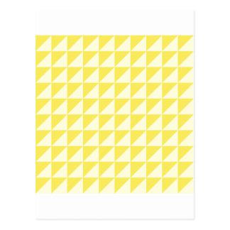 Große Dreiecke - hellgelb und Mais Postkarte