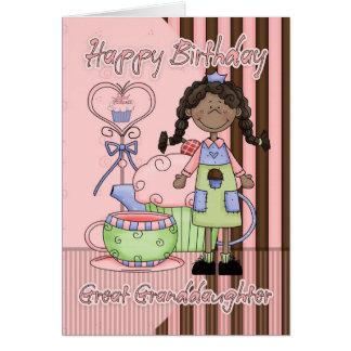 Große - Enkelin Geburtstag-Karte - kleine Kuchen Karte