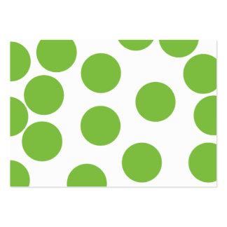 Große Erbsen-Grün-Punkte auf Weiß Mini-Visitenkarten