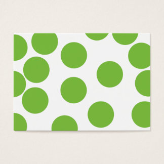 Große Erbsen-Grün-Punkte auf Weiß Visitenkarte