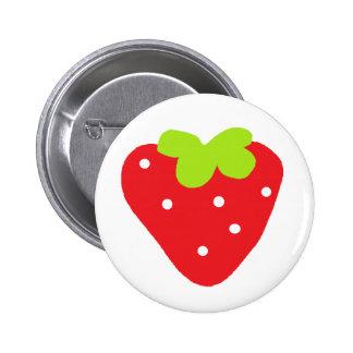 Große Erdbeere Runder Button 5,7 Cm