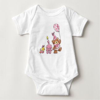 Große erste Geburtstags-Parade Baby Strampler