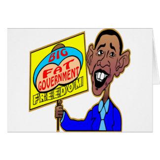Große fette Regierung Obama, die Freiheit Karte