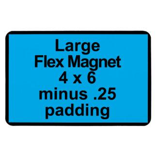 Große Flexmagnet-Schablonen-Vertikale-geeignetes Magnet