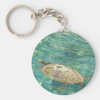 große Flussschildkröteschwimmen Schlüsselanhänger