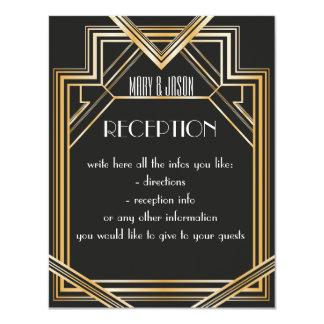 Große Gatsby inspirierte Empfangs- oder 10,8 X 14 Cm Einladungskarte