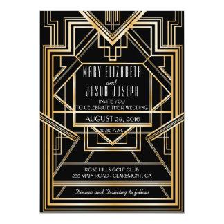 Große Gatsby inspirierte Hochzeitseinladung 12,7 X 17,8 Cm Einladungskarte