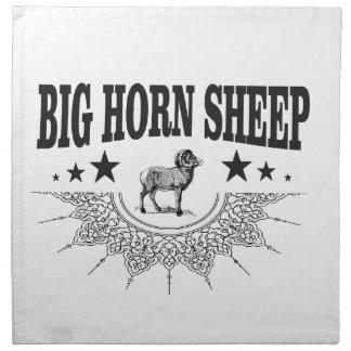 große gehörnte Schafe der Jagd Stoffserviette