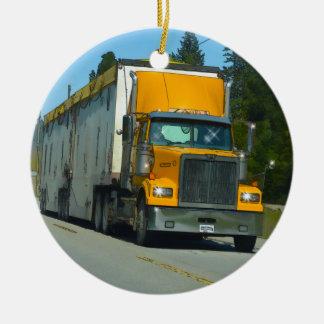 Große gelbe LKW-und Landstraßen-Kunst für Keramik Ornament
