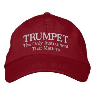 Große gestickte Trompete-Musik-Kappe Bestickte Baseballmütze