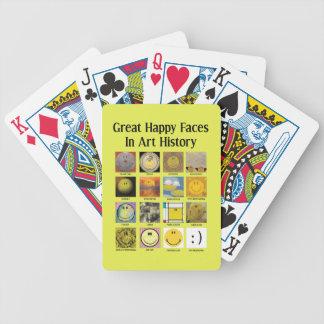 Große glückliche Gesichter in der Kunst-Geschichte Bicycle Spielkarten