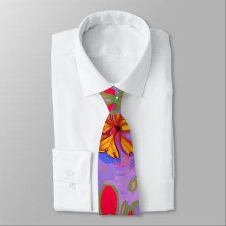 Große goldene Blüten-Krawatte Personalisierte Krawatte
