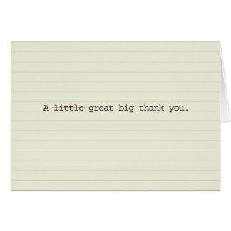 Große große danken Ihnen Karten