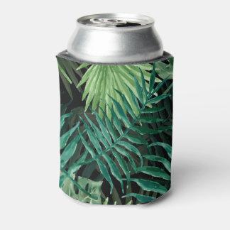 Große grüne Farn-Palme und Monstera tropische Dosenkühler