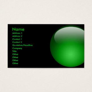 Große grüne Marmorkarte Visitenkarte