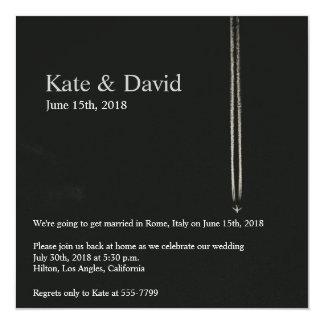 Große Höhe-Flugzeug-Hochzeit in Quadratische 13,3 Cm Einladungskarte