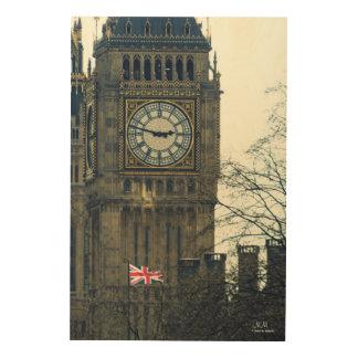 Große hölzerne Wand-Kunst Bell (Big Ben) Holzdruck