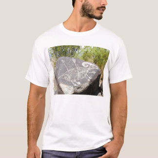 Große Hornschafe Petroglyphe T-Shirt