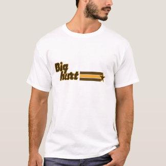 Große Hurt-Orange und Brown-Stern-T - Shirt