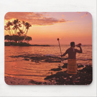 Große Insel, Hawaii. Sonnenuntergang, große Insel  Mousepad