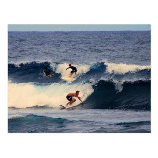 Große Insel-Hawaii-Surfer-Postkarte Postkarte