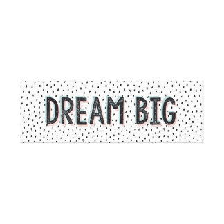 Große Inspirational Zitat-TraumLeinwand Leinwanddruck