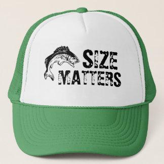 Größe ist Barschangeln-Hut von Bedeutung Truckerkappe